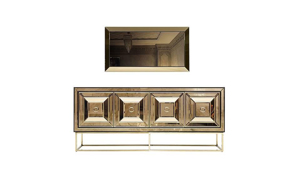Fendi Black & Gold Luxury Konsol