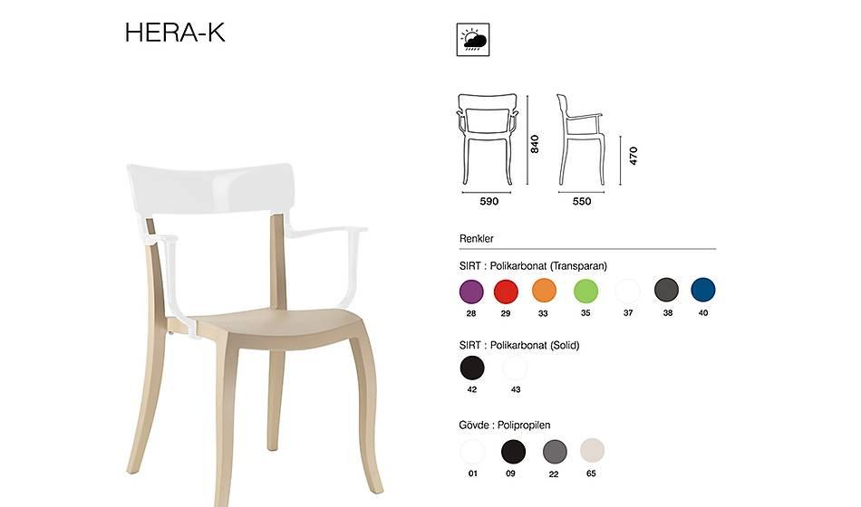 Hera-K Sandalye 2 Adet