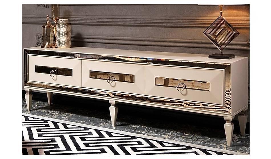 Rustik Krem Luxury Tv Ünitesi