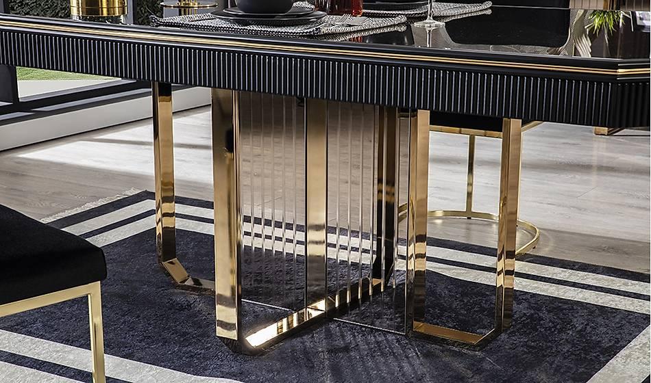 Cavalli Luxury Siyah Masa Takýmý