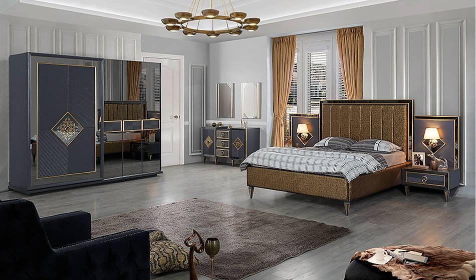 Ovis Antrasit Bazalı Yatak Odası