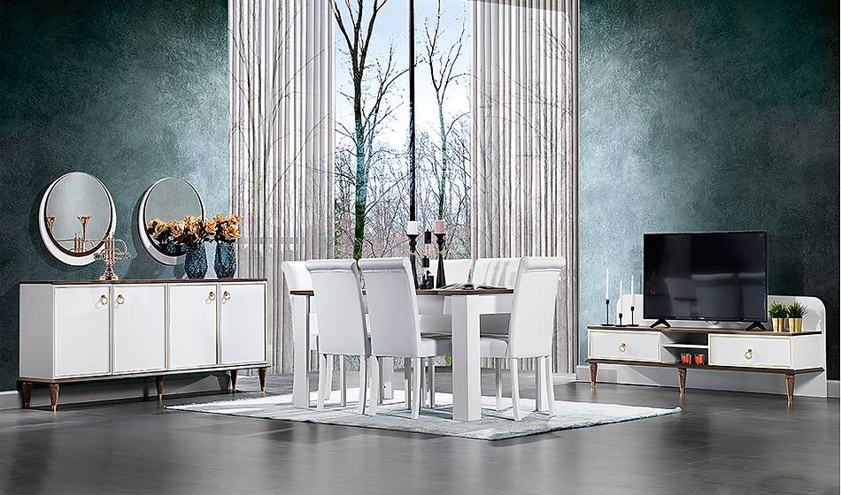 Beyaz Yemek Odalarý