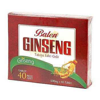 Balen Red Ginseng 300 mg. Kapsül 20 Adet