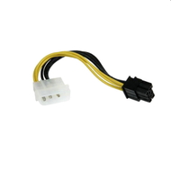 4 pin Molex - 6 pin PCI-E Ekran Kartı Dönüştürücü Kablosu