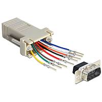 9 pin Erkek rj45 d-sub modular adaptör