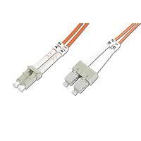 LC-SC Fiber Optik Patch Kablo, 1 metre, Multimode, 3.0mm Duplex, 50/125, OM 2