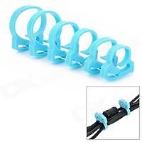 Plastik Kablo Toplayıcı Kelepçe Mavi