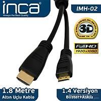 İnca Mini Hdmı Kablo 1.8 metre - 10 Adet