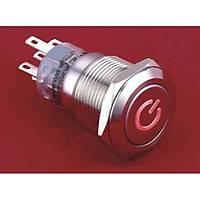 19 mm Metal POWER  LED li Buton Yaylı
