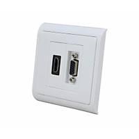 Duvar Prizi - Sıva Altı - HDMI - VGA - Dişi - Dişi
