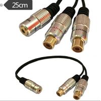 1 Stereo Dişi 2 Rca Dişi Çevirici Kablo Kaliteli