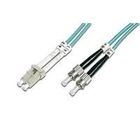 ST-LC Fiber Optik Patch Kablo, 3 metre, Multimode, Duplex, 50/125, OM 3