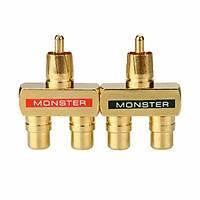 Monster Rca Çoklayıcı Gold