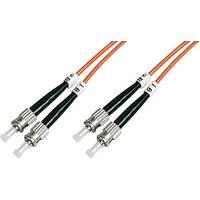 ST-ST Fiber Optik Patch Kablo, 3 metre, Multimode, Duplex, 50/125, OM2
