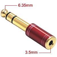 Gold 6.35mm to 3.5mm Erkek-Dişi Stereo Adaptör