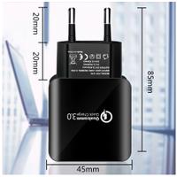 Hızlı Şarj Usb 3.0 Cep Telefonu Şarj Cihazı 5-9-12 volt 18 w