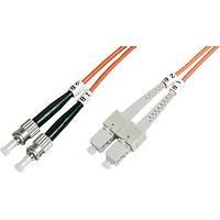 ST-SC Fiber Optik Patch Kablo, 2 metre, Multimode, 3.0mm Duplex, 50/125, OM 2