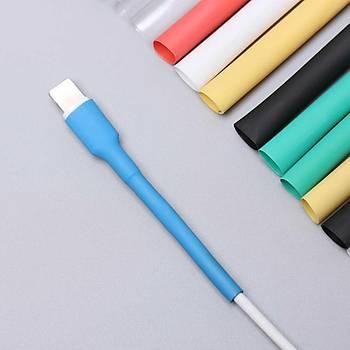 iPhone Şarj Kablosu Koruyucu Makaron 12 adet 6 cm