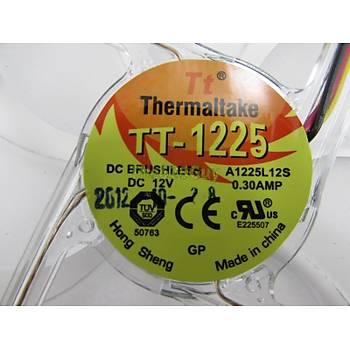 Thermaltake Mavi LED 3Pin PC Kasa Fanı