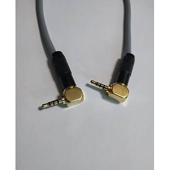 2.5 mm Stereo Kablo 4 Boğumlu 2 Metre