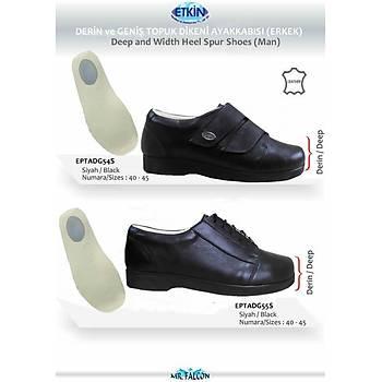 Geniş ve Şiş Ayaklar İçin Topuk Dikeni Ayakkabı Erkek Modeli EPTADG55S