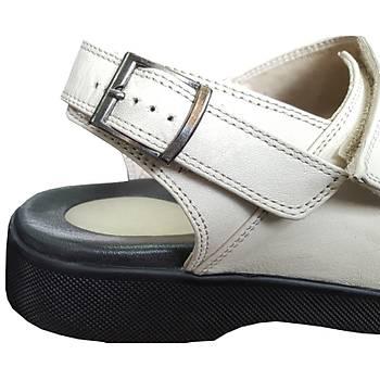 Ortopedik Erkek Topuk Dikeni Sandaleti Bej EPT14AJ