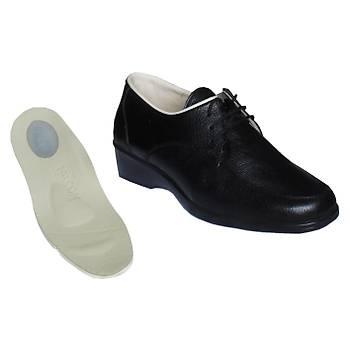 Topuk Dikeni İçin Özel Ayakkabı Bayan Siyah Bağcıklı Model EPTA02S