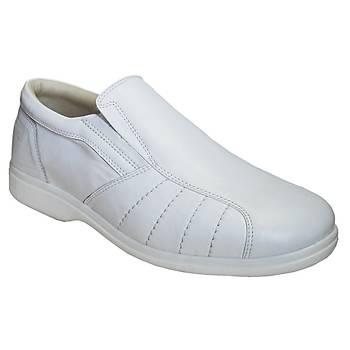 Kaliteli Diyabet Ayakkabýsý Erkek Model Beyaz OD53B