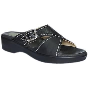Topuk Dikeni Terliği Bayan Siyah EPT06S (Silikon ve Deri Tabanlık)