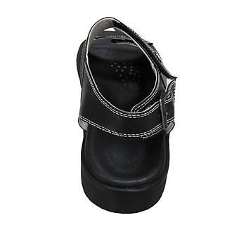 Ortopedik Deri Hac Umre Sandaleti Erkek Siyah ORT-13AS