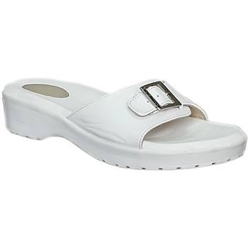 Topuk Dikeni Terlikleri Bayan Beyaz EPT04B (Taraklý Ayaklar)