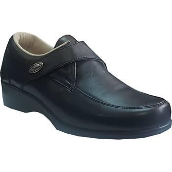 Diyabet Ayakkabısı Bayan Cırtlı Siyah Model OD01S (Şeker Hastaları)