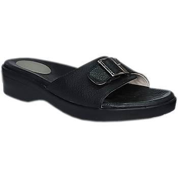 Taraklı Ayaklar İçin Topuk Dikeni Terliği Bayan Siyah EPT04S