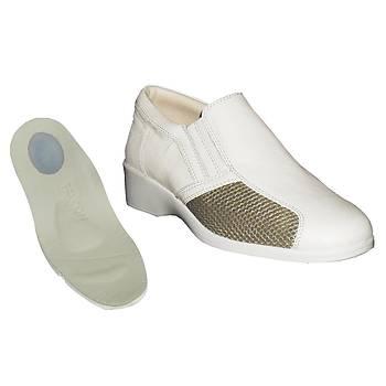 Topuk Dikeni İçin Ortopedik Ayakkabı Bayan Yazlık Bej EPTYA04