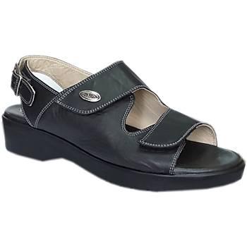 Topuk Dikeni Sandalet Modeli Bayan Siyah EPT08AS