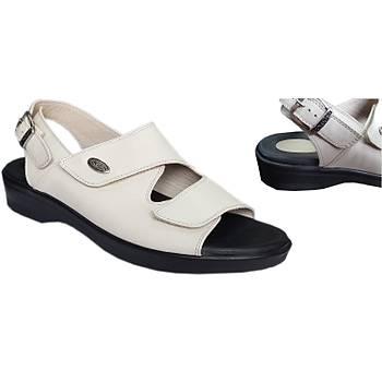 Topuk Dikeni Hastalarý Ýçin Sandalet Bayan Modeli Bej EPT08AJ