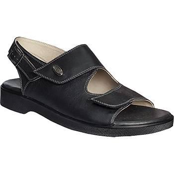 Ortopedik Kaliteli Sandalet Erkek Siyah ORT-13AS