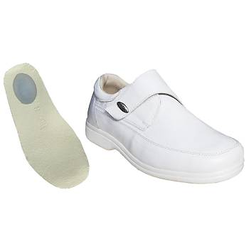 Topuk Dikeni Ayakkabýsý Erkek Beyaz EPTA51B (Silikon Deri Tabanlý)