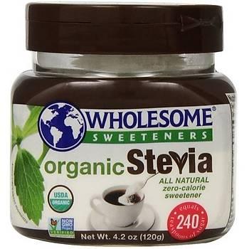 Wholesome Sweeteners Organik Stevia Toz Tatlandýrýcý - 120gr