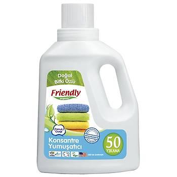 Friendly Organic Hassas Ciltler Ýçin Organik Ýçerikli Çamaþýr Yumuþatýcýsý (50 yýkama) - Pamuk Çiçeði