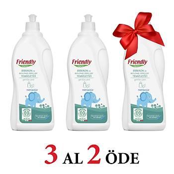 3 Adet Friendly Organic Biberon ve Beslenme Gereçleri Temizleyici- Parfümsüz - 750 ml