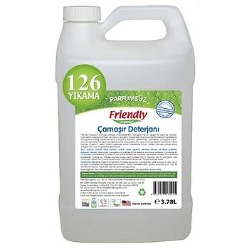 Friendly Organic Hassas Ciltler Ýçin Çamaþýr Deterjaný 3.78 lt - 126 Yýkama- Parfümsüz