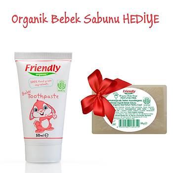 Friendly Organic Bebek Diþ Macunu - Ahududu Aromalý - %100 Gýda Sýnýfý Ýçerikli - HEDÝYELÝ