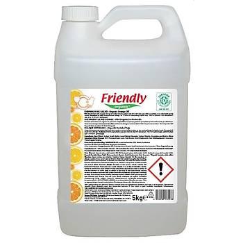 Friendly Organic Bulaþýk Deterjaný- Organik Portakal Yaðý - 5 L