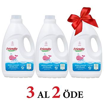 3 Adet Friendly Organic Çamaþýr Deterjaný - Çiçek Kokulu- 2000 ml