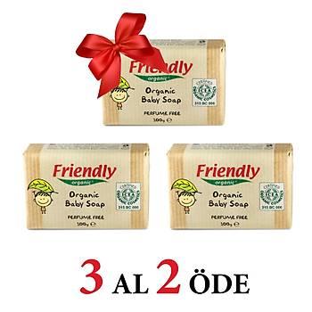 3 Adet Friendly Organic Parfümsüz Organik Bebek Sabunu