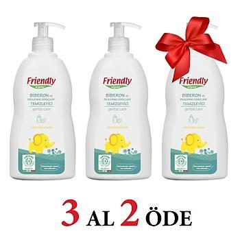 3 Adet Friendly Organic Biberon ve Beslenme Gereçleri Temizleyici- Limon - 500 ml