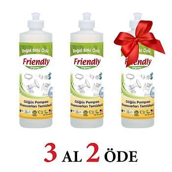 3 Adet Friendly Organic Emzirme Ürünleri Temizleyici