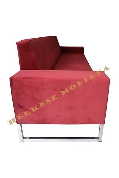 Pink Dörtlü Ofis Kanepesi