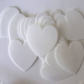 Yenilebilir Kalp Pasta Yazý Plaketi